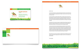 Lawn Maintenance - Business Card & Letterhead Template Design Sample