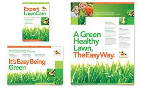 Lawn Maintenance - Print Ad Template
