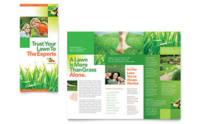 Lawn Maintenance - Tri Fold Brochure Template Design Sample