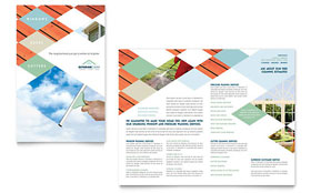 Window Cleaning & Pressure Washing - Brochure Template Design Sample