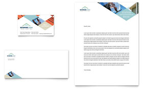 Window Cleaning & Pressure Washing - Business Card & Letterhead Template Design Sample