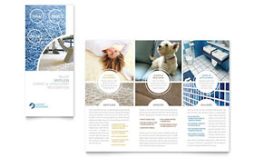 Carpet Cleaners - Apple iWork Pages Tri Fold Brochure Template