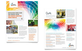 House Painting Contractor - Sales Sheet Template