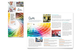 House Painting Contractor - Tri Fold Brochure Template