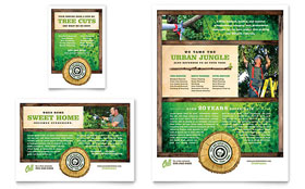 Tree Service - Print Ad Template