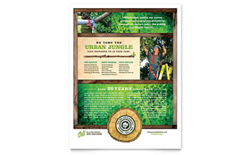 Tree Service - Flyer Template Design Sample