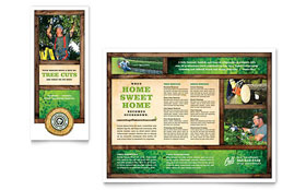 Tree Service - Tri Fold Brochure Template Design Sample