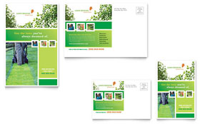 Lawn Mowing Service - Postcard Template Design Sample
