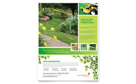 Lawn Mowing Service - Flyer Template Design Sample