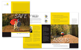 Insurance Agent - Brochure Template Design Sample