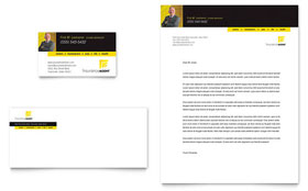 Insurance Agent - Business Card & Letterhead Template Design Sample