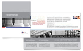 Legal & Government Services - Brochure Template Design Sample