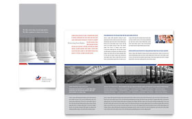 Legal & Government Services - Microsoft Word Tri Fold Brochure Template