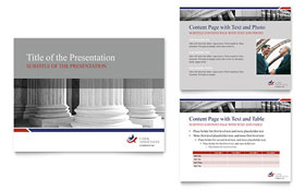Legal & Government Services - PowerPoint Presentation Template Design Sample