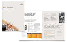 Attorney at Law - Brochure Template Design Sample