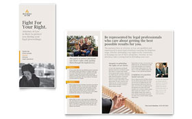 Legal Advocacy - Tri Fold Brochure Template