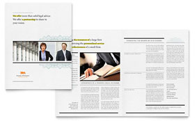 Attorney - Brochure Template Design Sample