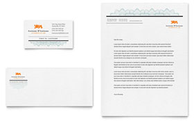 Attorney - Business Card & Letterhead Template Design Sample