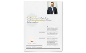 Attorney - Flyer Sample Template