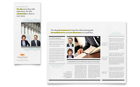 Attorney - Print Design Tri Fold Brochure Template