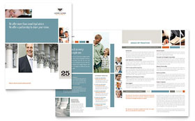 Family Law Attorneys - Brochure Template Design Sample