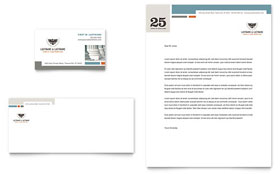 Family Law Attorneys - Business Card & Letterhead Template Design Sample