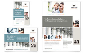 Family Law Attorneys - Print Ad Template Design Sample