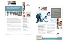 Family Law Attorneys - Datasheet Template Design Sample