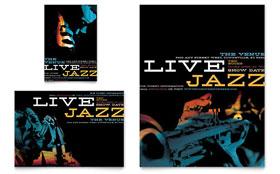 Jazz Music Event - Print Ad Template