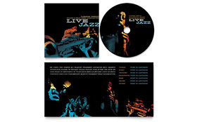 Jazz Music Event - CD Booklet Imprint Sample Template