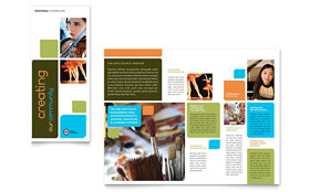 Arts Council & Education - Business Marketing Brochure Template