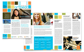 Arts Council & Education - Newsletter Template Design Sample