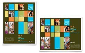 Arts Council & Education - Poster Template Design Sample