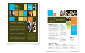 Arts Council & Education - Sales Sheet Template Design Sample