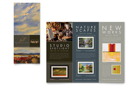 Art Gallery & Artist - Microsoft Publisher Tri Fold Brochure Template