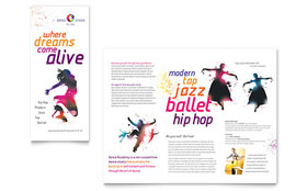 Kid's Dance Studio - Brochure - Graphic Design Template Design Sample