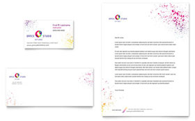 Kid's Dance Studio - Business Card & Letterhead Template Design Sample