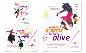 Kid's Dance Studio - Print Ad Template Design Sample