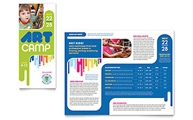 Kids Art Camp - Microsoft Word Brochure Template