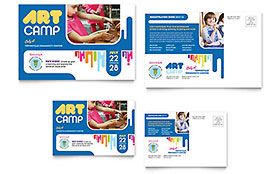 Kids Art Camp - Postcard Template