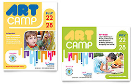 Kids Art Camp - Poster Template