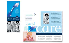 Dentist Office - Adobe Illustrator Brochure Template