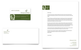Chiropractor - Business Card & Letterhead Template