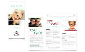Optometrist & Optician - Brochure Template Design Sample