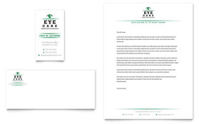 Optometrist & Optician - Business Card & Letterhead Template Design Sample