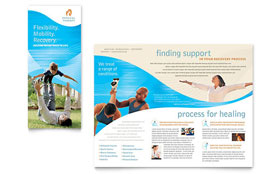 Physical Therapist - Tri Fold Brochure Sample Template