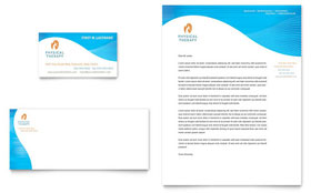 Physical Therapist - Business Card & Letterhead Template