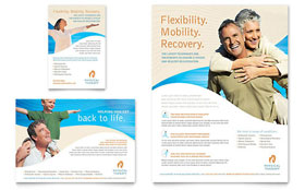Physical Therapist - Flyer & Ad Template Design Sample