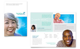 Dental Care - Brochure Sample Template