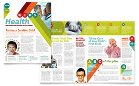 Pediatrician & Child Care - Newsletter Template Design Sample